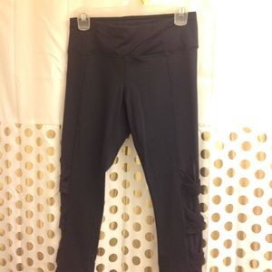 Active Life Crop Leggings Yoga Pants S/M Black